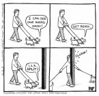 Split - Off The Leash Dog Cartoons by Rupert Fawcett