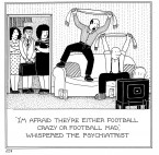 Football Mad Fred Cartoons by Rupert Fawcett