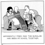 Burglar Friend Fred cartoons by Rupert Fawcett