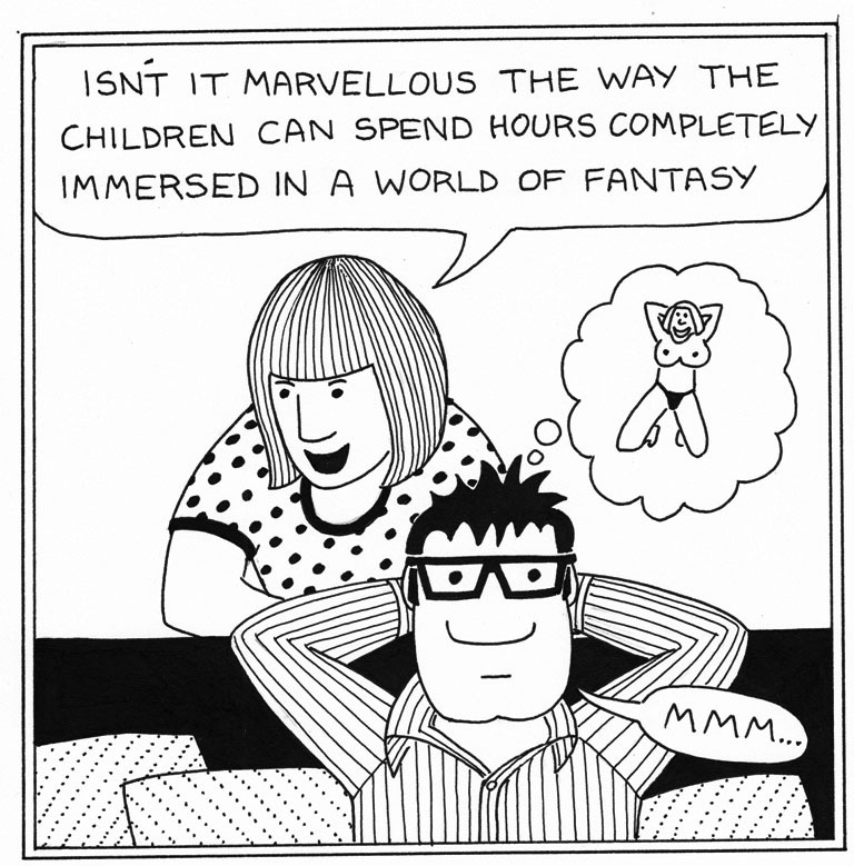 Daddy Fantasy - Daddy Cartoons by Rupert Fawcett