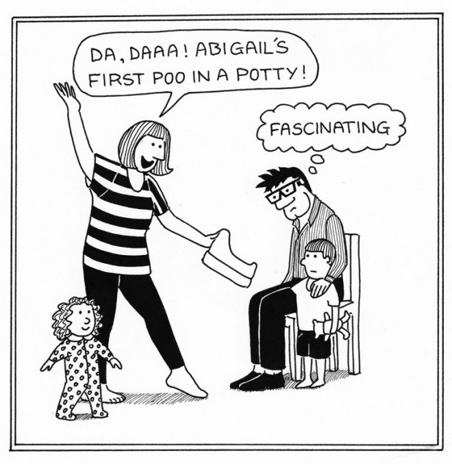 First Poo - Daddy Cartoons by Rupert Fawcett