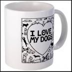 I Love My Dogs Mug