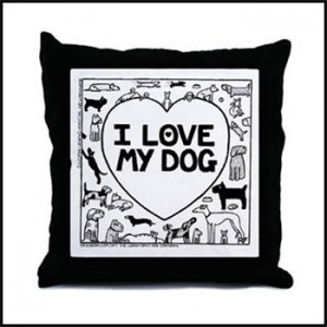 I Love My Dog - Off The LeashThrow Pillow