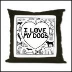 I Love My Dog - Off The Leash Suede Cushion