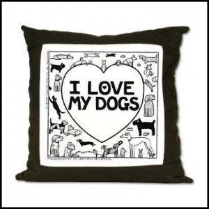 I Love My Dog - Off The Leash Suede Cushion