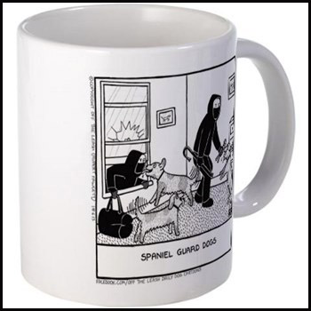 Spaniel Guard Dogs - Off The Leash mug
