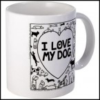I Love My Dog - Off The Leash mug