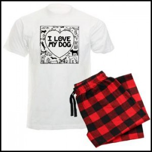 I Love My Dog - Off The Leash Men's Pyjamas