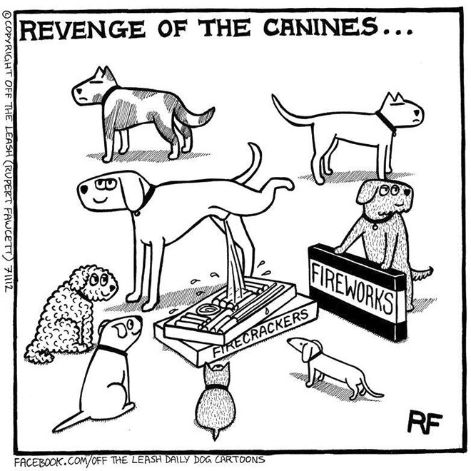Off The Leash Dog Cartoons - Revenge of the canines