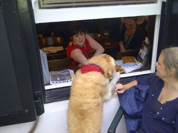 Sam getting the local gossip