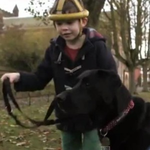 Autistic Boy and His Dog - Off The Leash Dog Cartoons