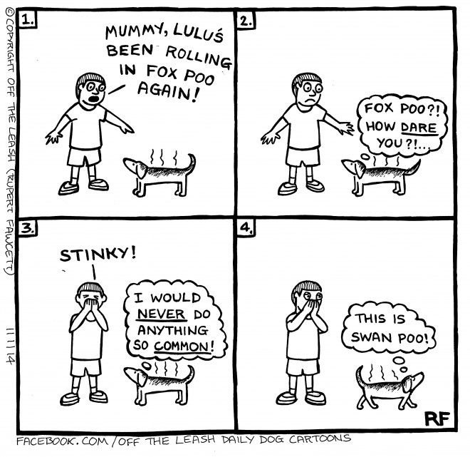 © Off The Leash Dog Cartoons / Rupert Fawcett Naughty Lulu...