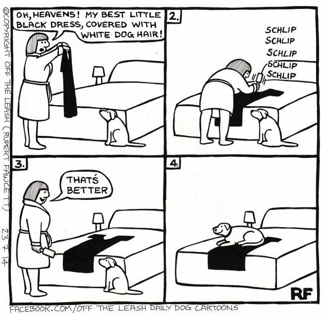 © Off The Leash Dog Cartoons / Rupert Fawcett The Little Black Dress...