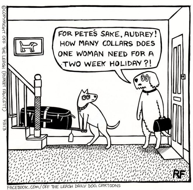 © Off The Leash Dog Cartoons / Rupert Fawcett Holiday Time