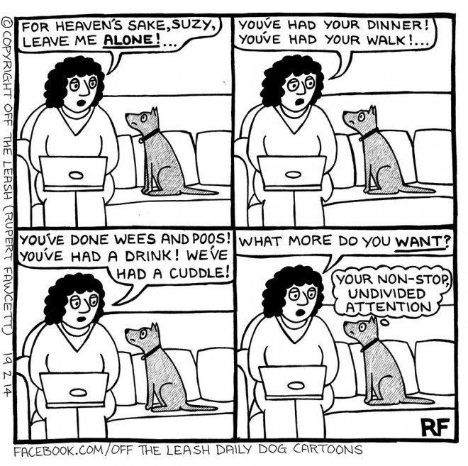 © Off The Leash Dog Cartoons / Rupert Fawcett The Cling-on...